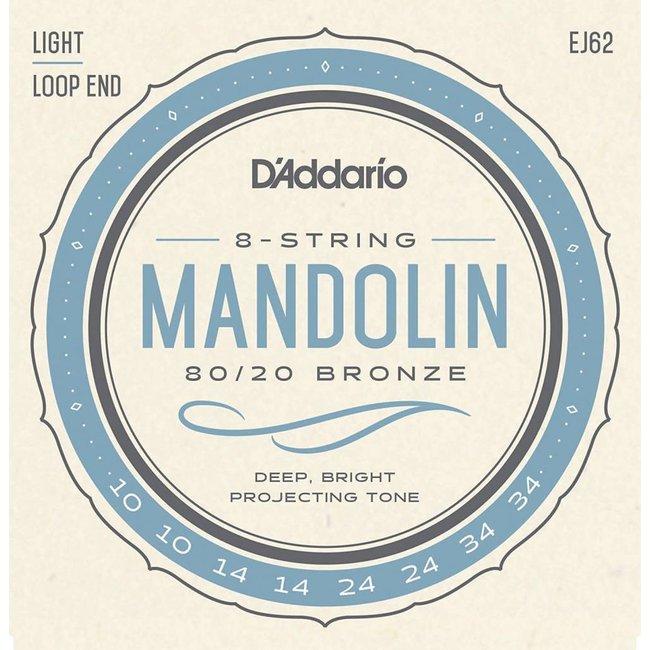 80/20 Bronze Mandolin Strings Light 0.10-0.34