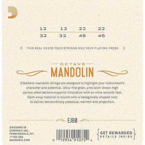 D'Addario Phosphor Bronze Octave Mandolin Strings Medium 0.12-0.46