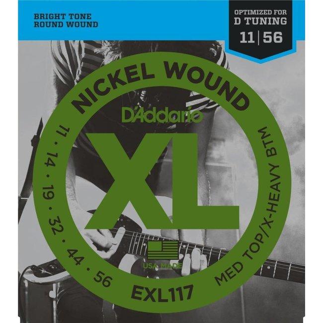 Nickel Wound Electric Guitar Strings Medium Top/Extra-Heavy Bottom 11-56