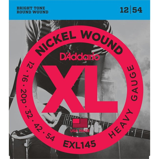 Nickel Wound Electric Guitar Strings Heavy 12-54 with Plain Steel 3rd