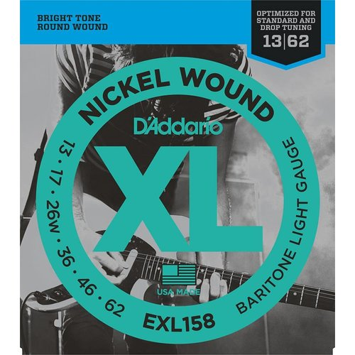 D'Addario Nickel Wound Baritone Light 13-62