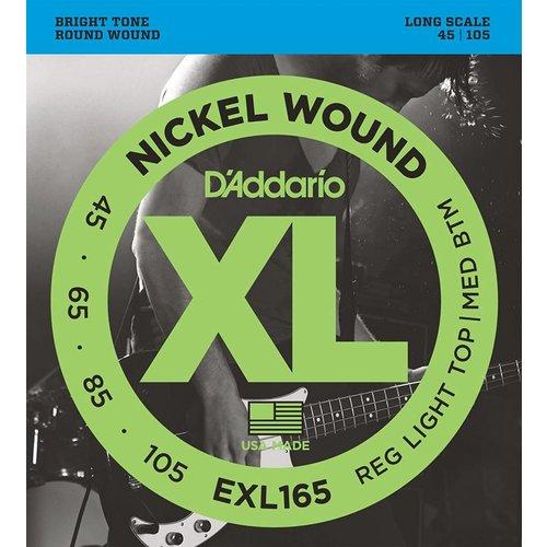 D'Addario EXL165 - Nickel Wound Bass Guitar Strings Custom Light 45-105 Long Scale