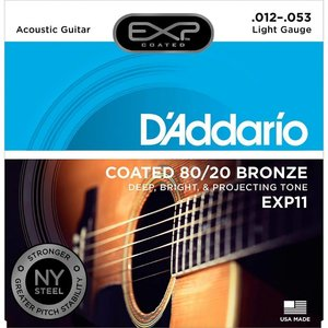 D'Addario EXP11 - 80/20 Bronze Round Wound Acoustic Guitar Strings 12-53