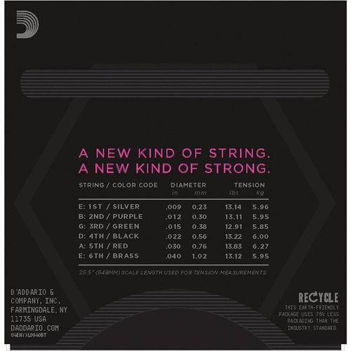 D'Addario NYXL Nickel Wound Balanced Tension Super Light 09-40