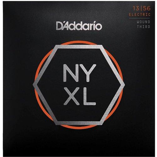 D'Addario NYXL Nickel Wound Electric Guitar Strings Medium Wound 3rd 13-56