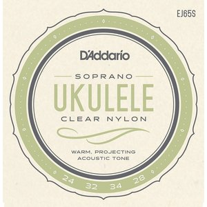 D'Addario EJ65S Pro-Arte Custom Extruded Nylon Ukulele Strings Soprano