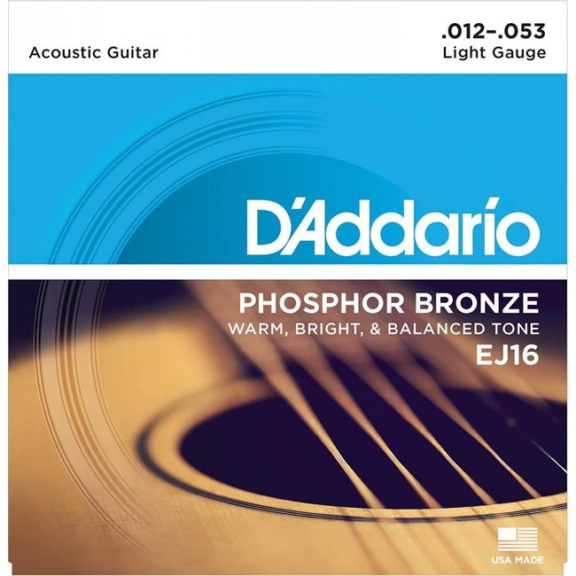 Phosphor Bronze Acoustic Guitar Strings Light 12-53
