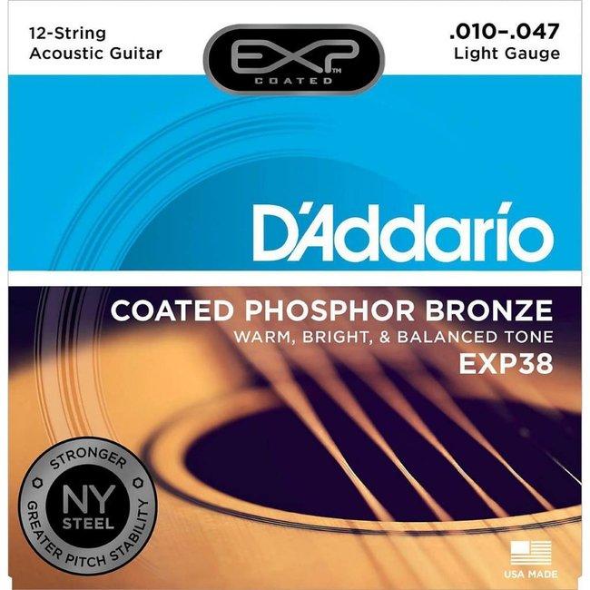 Coated Phosphor Bronze 12-String Acoustic Guitar Strings Light 10-47