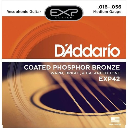 D'Addario Coated Resophonic Guitar Strings 16-56