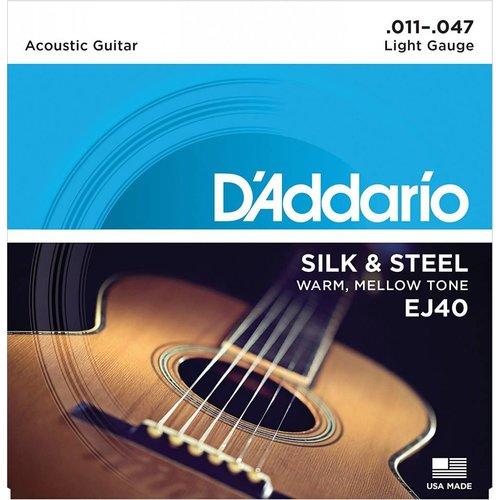 D'Addario EJ40 - Silk & Steel Folk Guitar Strings 11-47