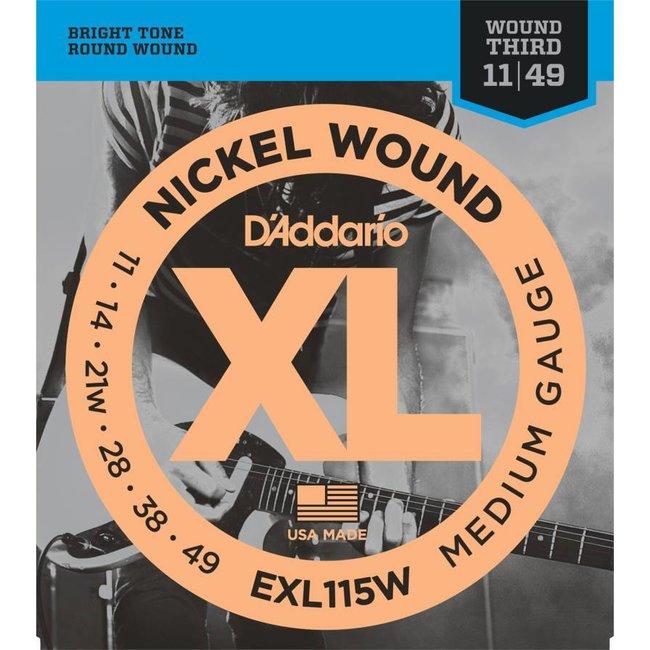 Nickel Wound Electric Guitar Strings Medium/Blues-Jazz Rock Wound 3rd 11-49