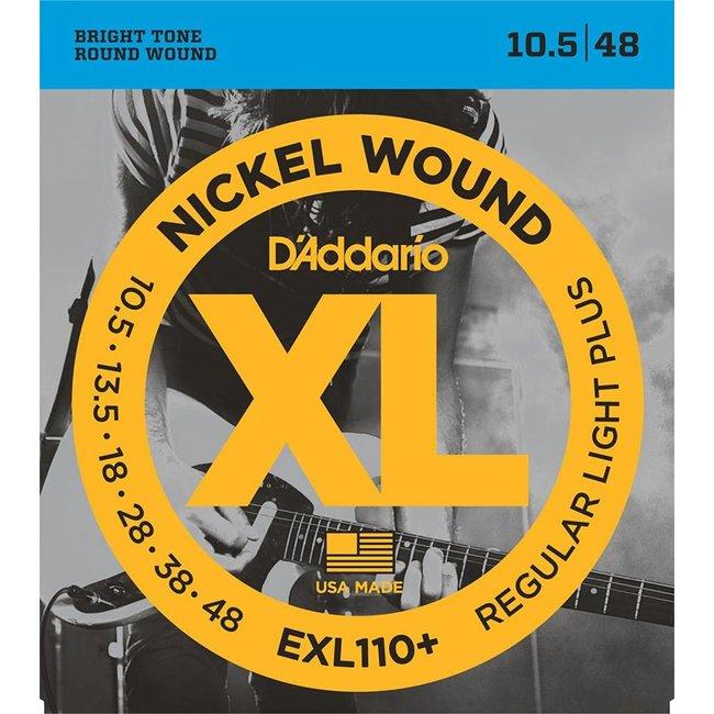 Nickel Wound Electric Guitar Strings Regular Light Plus 10.5-48