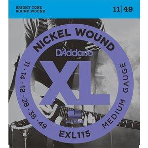 D'Addario EXL115 - Nickel Wound Electric Guitar Strings Med. Blues/Jazz Rock 11-49