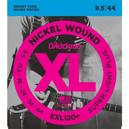 D'Addario EXL120+ Nickel Wound Electric Guitar Strings Super Light Plus 9.5-44