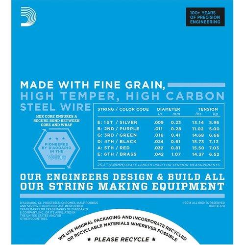 D'Addario Nickel Wound Electric Guitar Strings Super Light Plus 9.5-44