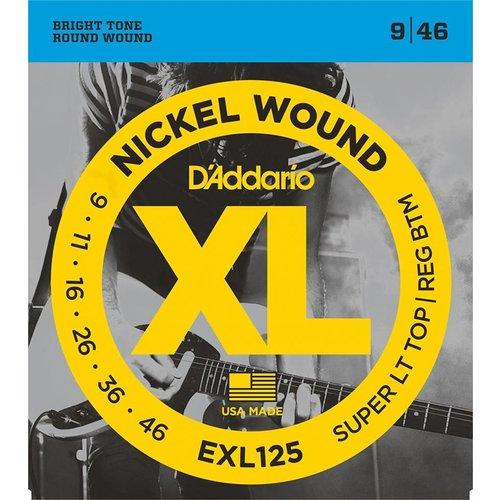 D'Addario Nickel Wound Electric Guitar Strings Super Light Top/Regular Bottom 9-46