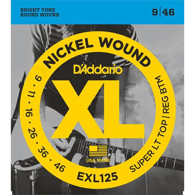 Nickel Wound Electric Guitar Strings Super Light Top/Regular Bottom 9-46