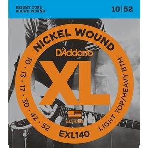 D'Addario EXL140 - Nickel Wound Electric Guitar Strings Light Top/Heavy Bottom 10-52