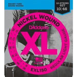 D'Addario EXL150 - Nickel Wound Electric Guitar Strings 12-String Regular Light 10-46