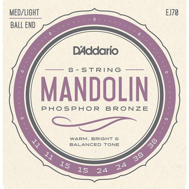 Phosphor Bronze Mandolin Strings Ball End Medium/Light 11-38