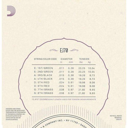 D'Addario Phosphor Bronze Mandolin Strings Ball End Medium/Light 11-38