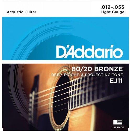 D'Addario 80/20 Bronze Acoustic Guitar Strings Light 12-53