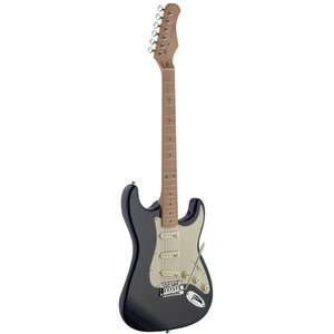 Stagg SES50M-BK Vintage Style Electric Guitar with Solid Alder Body - Black