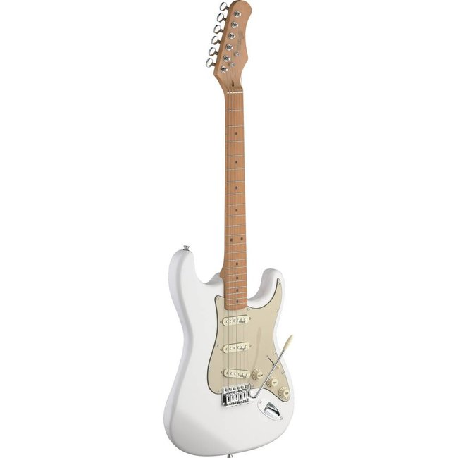 Stagg Vintage Style Electric Guitar with Solid Alder Body - Cream White