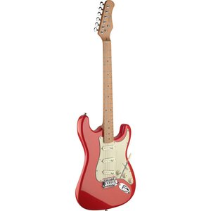 Stagg SES50M-FRD Vintage Style Electric Guitar with Solid Alder Body - Fiesta Red