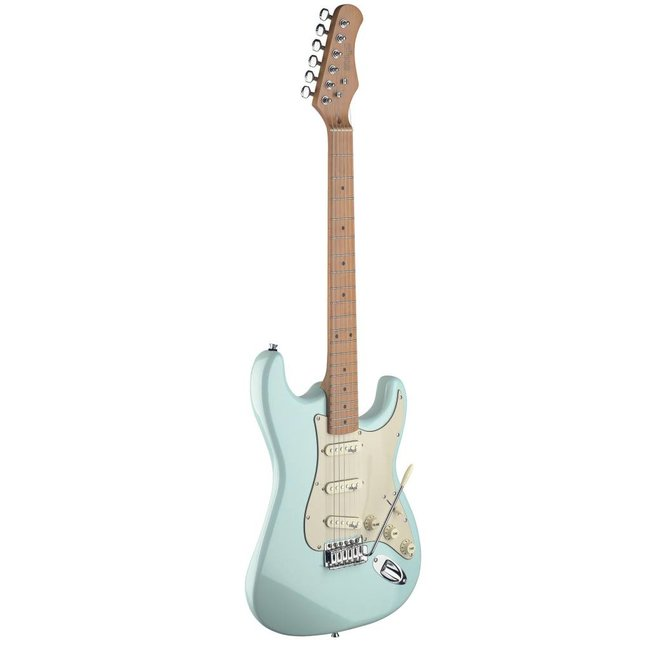 Stagg Vintage Style Electric Guitar with Solid Alder Body - Sonic Blue