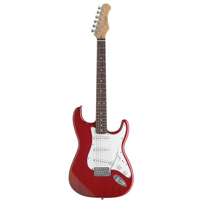 Stagg Standard Electric Guitar - Transparent Red
