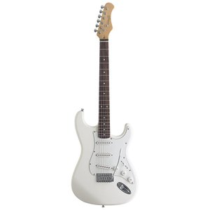 Stagg S300-WH Standard 6-String Electric Guitar with Classic S Style Bridge - White