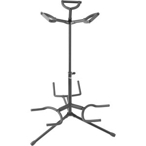 Stagg SG-A300BK Triple Guitar Stand with Folding Legs - Black