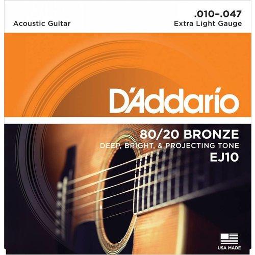 D'Addario EJ10 - 80/20 Strings Bronze XLite Acoustic