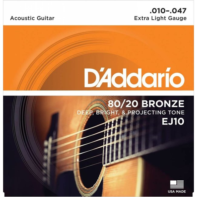 Strings EJ10 80/20 Bronze XLite Acoustic