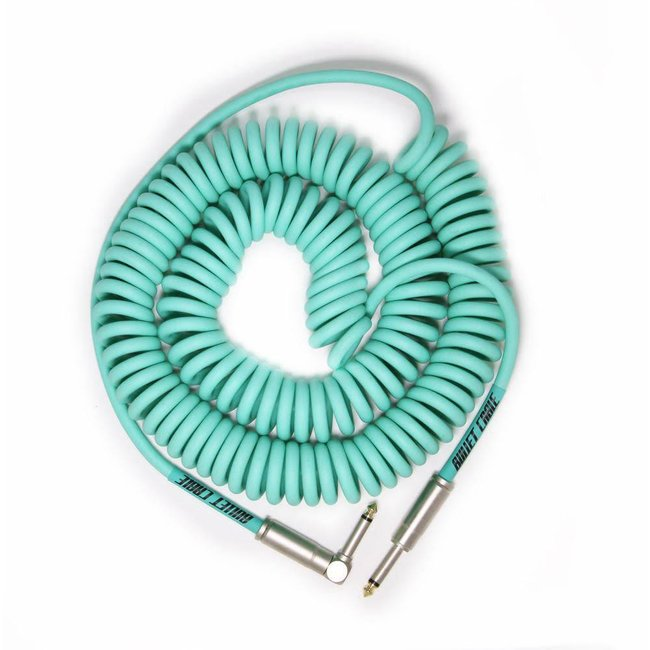 Bullet Cable 30' Seafoam Green R/A Coil Cable