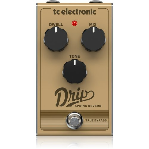 TC Electronic TC-DRIP-SPRING Retro Spring Reverb With Adjustable Dwell, Mix, Tone