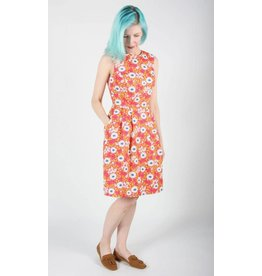Birds of North America Peafowl Rosewood Daisy Dress