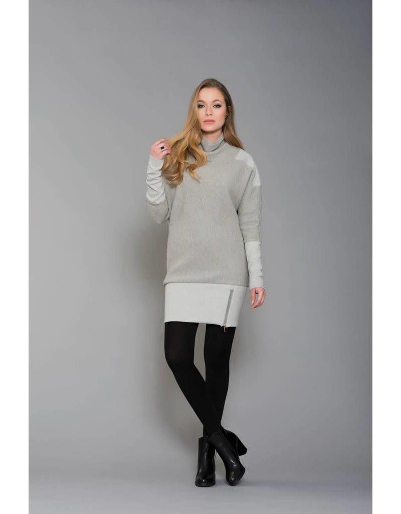 Ruelle Board Zipper Grey Mini Dress