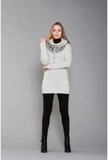 Ruelle Darwin Turtleneck Grey/Beige Tunic Top