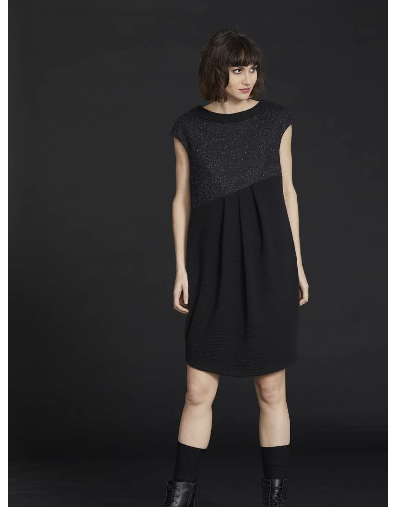 Cokluch Don't Move Shift Dress with Pleats