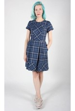 Birds of North America Pyrrhuloxia Blue Plaid Dress