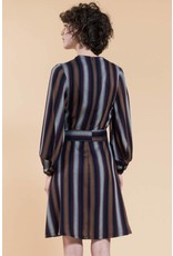 Jennifer Glasgow Roberta Aline Striped Navy Dress
