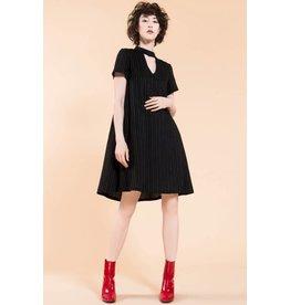 Jennifer Glasgow Chaka Grey Striped Swing Dress