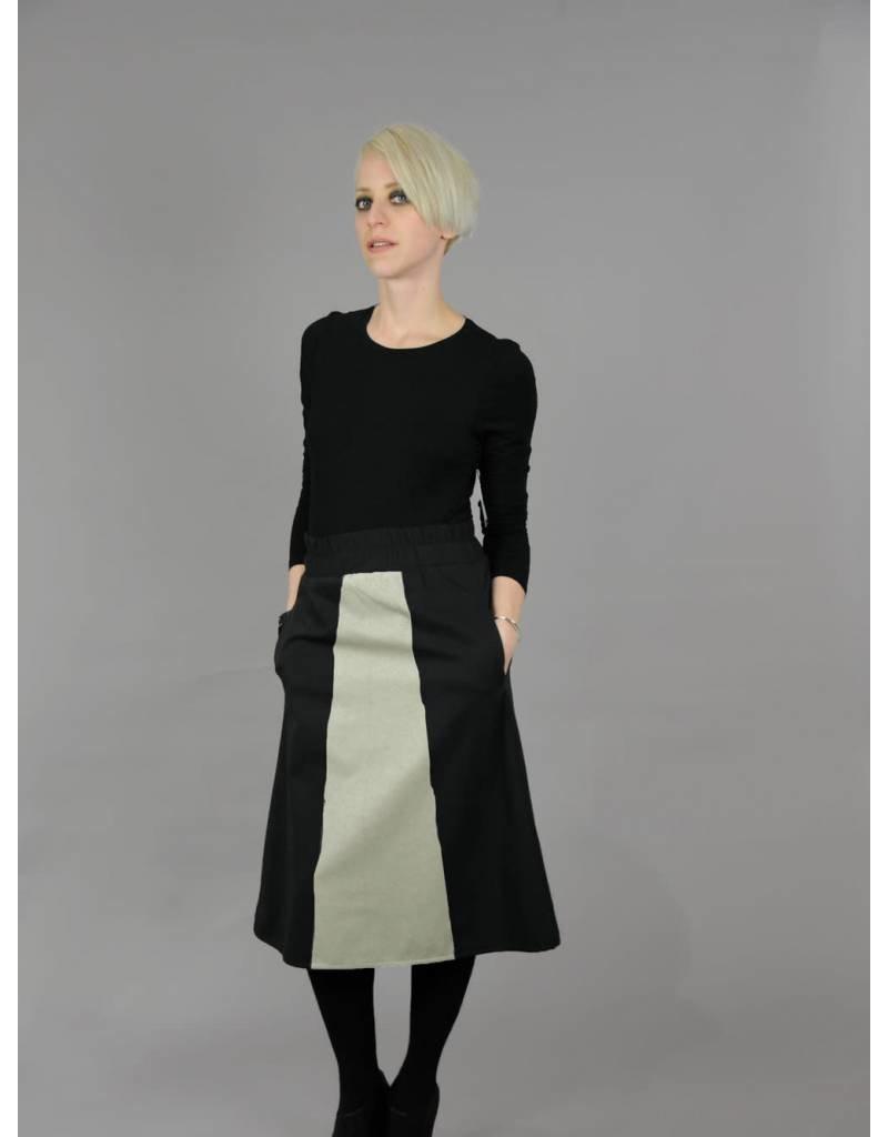 Martin Dhust Mer Aline Midi Black/Sand Skirt
