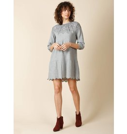 Indi & Cold Mini Embroidered Dress