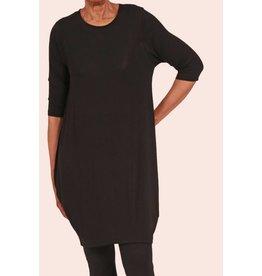 Ayrtight Crepe Prime Tunic Dress Black