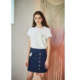 Maison De Ines Mini Aline Skirt Denim