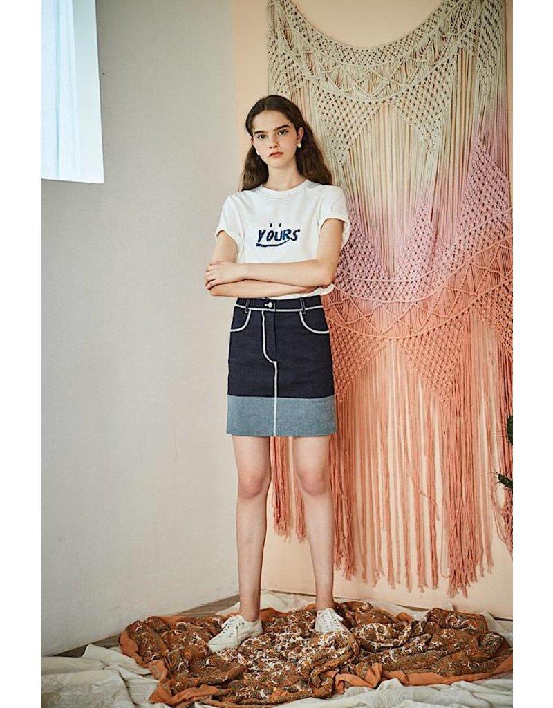 Maison De Ines Mini Skirt Denim