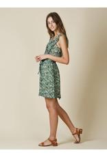 Indi & Cold Sleeveless Mini Dress Green